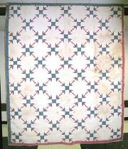 Image of Doves at the Window/Turkey Tracks quilt - Quilt, Bed