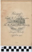 Image of Kappa Alpha Convention banquet program