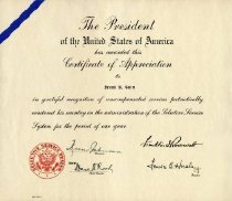 Image of Certificate of Appreciation