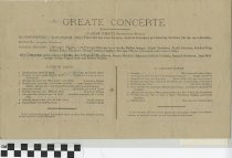 "Image of ""Great Concerte"" program, back"