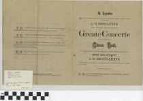 "Image of ""Great Concerte"" program, front"
