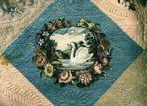 Image of Henry Clay Presentation Quilt (detail)