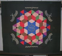 Image of Log Cabin quilt (Pineapple variation) - Quilt