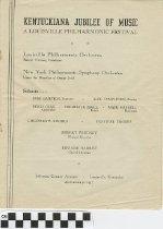 Image of Kentuckiana Jubilee of Music program, 1947