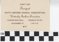 Image of Kentucky Bankers Association Banquet card