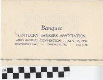 Image of Kentucky Bankers Association banquet program