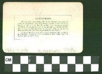 Image of 1986.9.191 Back