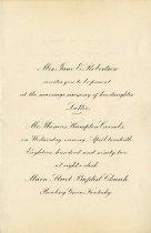 Image of Robertson / Coombs wedding invitation -