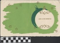 Image of Christmas Card with Ornament Illustration inside