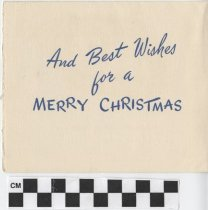 Image of Christmas Card inside left