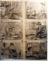 Image of Filmstrip Ilustrations for Mr. Kidd, Family Pictures, Hollywood -