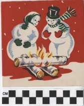 Image of Christmas Card snowmen front