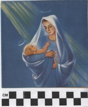Image of Mary and Jesus Christmas Card Front