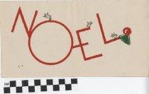 Image of Noel Christmas Card inside