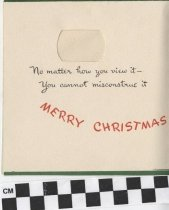 Image of santa claus christmas card inside left