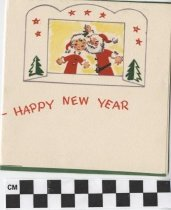 Image of santa claus christmas card inside right