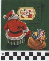 Image of Santa Claus christmas card front