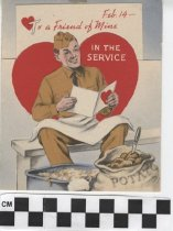 Image of Valentine Card for Serviceman front