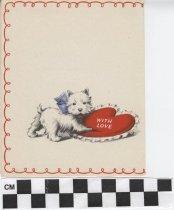 Image of valentine's day card inside left