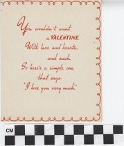 Image of valentine's day card inside right
