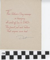 Image of father's day card inside right