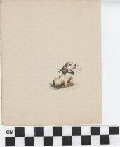 Image of easter card inside left