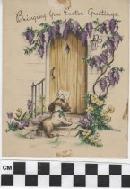 Image of easter card with dog front