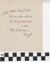 Image of easter card for a father inside right