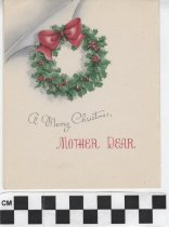 Image of christmas card to a mother inside left