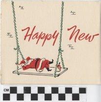 Image of Christmas Card Santa Claus inside left