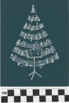 Image of christmas card with christmas tree front
