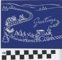 Image of christmas card train front