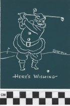 Image of christmas card with santa claus front