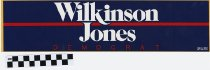 Image of Wilkinson and Jones, Democrat