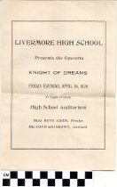 Image of Knight of Dreams operetta program