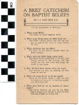 Image of Baptist Belief pamphlet