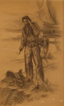Image of Drawing of a cowboy by Dorothy Grider