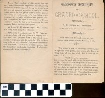 Image of Glasgow Academy and Graded School pamphlet, 1890