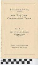 Image of Forty Year Commemmoration Dinner program