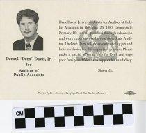 "Image of Drexle ""Drex"" Davis, Jr. for Auditor of Public accounts"