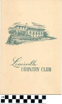 Image of Louisville Country Club Luncheon Menu