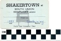 Image of Shakertown Membership Card