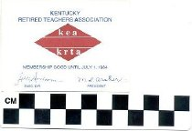 Image of Kentucky Retired Teachers Association membership card