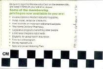 Image of AARP membership card