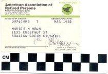 Image of American Association of Retired Persons (AARP) membership card