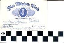Image of The Filson Club membership card