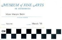 Image of Museum of Fine Arts membership card