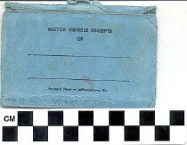 Image of Charles W. Morehead advertisement on a blue Envelope