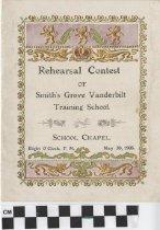 Image of rehearsal contest program