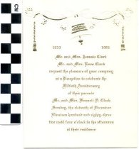 Image of Fiftieth Anniversary invitation
